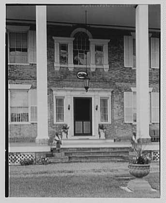 Martin Van Buren, residence in Kinderhook, New York. Entrance detail