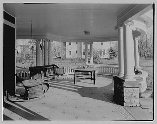 President Warren G. Harding, residence in Marion, Ohio. Porch from where campaign speeches were made