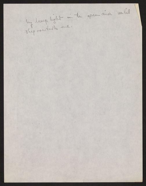 Alan Lomax Collection, Manuscripts, Caribbean, 1962 April-Aug