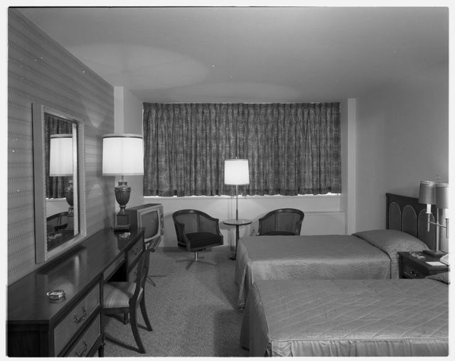 Americana Hotel, 52nd St. and 7th Ave., New York City. Suite 1501, gold room II
