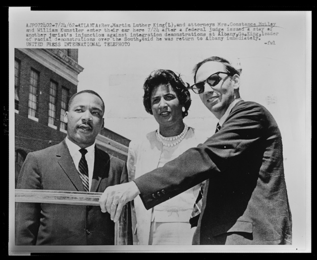 [Mrs. Constance Motley with Rev. Martin Luther King and William Kunstler]