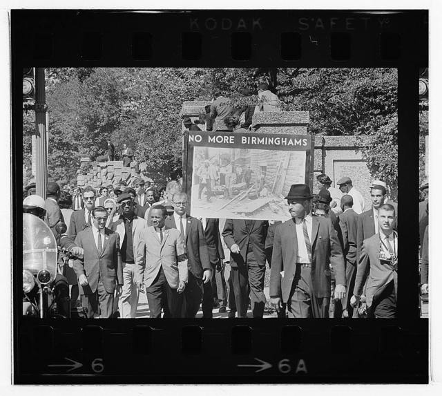 Congress of Racial Equality conducts march in memory of Negro youngsters killed in Birmingham bombings, All Souls Church, 16th Street, Wash[ington], D.C. / [TOH].