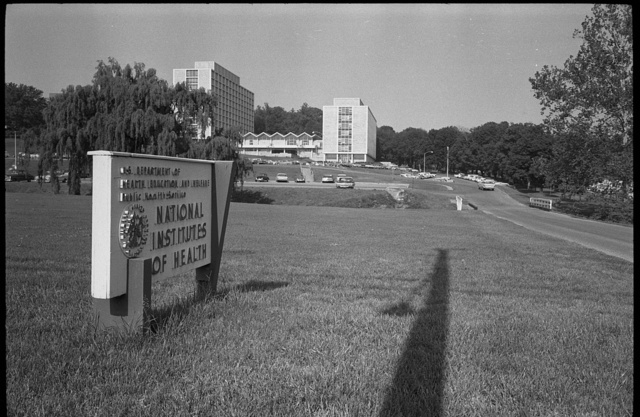 [Entrance signs to the National Institutes of Health (NIH), Bethesda, Maryland]