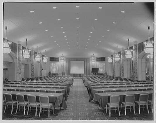Essex House, Colonnades. Ballroom, setup for meeting