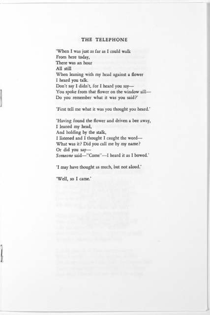 [Material relating to the Robert Frost Memorial, held at Amherst College, Feb. 17, 1963].
