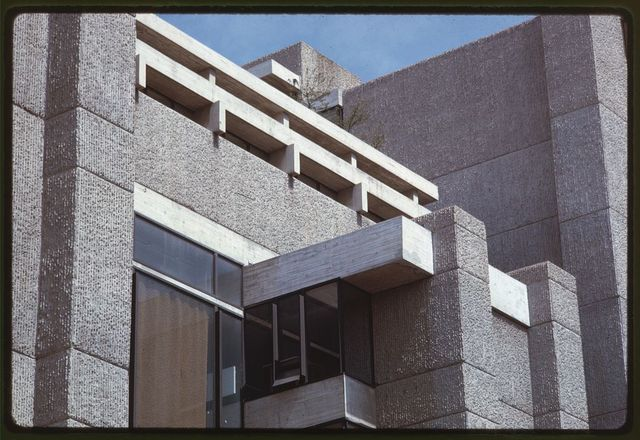 [Art and Architecture Building, Yale University, New Haven, Connecticut. View of finished concrete surfaces]