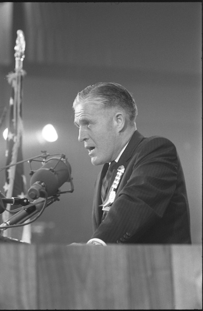 [Michigan governor George Romney speaking at the 1964 Republican National Convention in San Francisco]