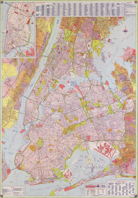 Street map, New York City /