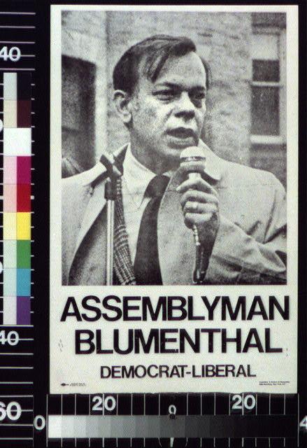 Assemblyman Blumenthal, Democrat-Liberal