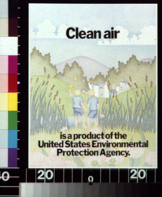 Clean air is a product of the United States Environmental Protection Agency