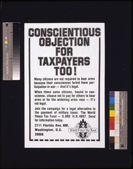 Conscientious objection for taxpayers too!
