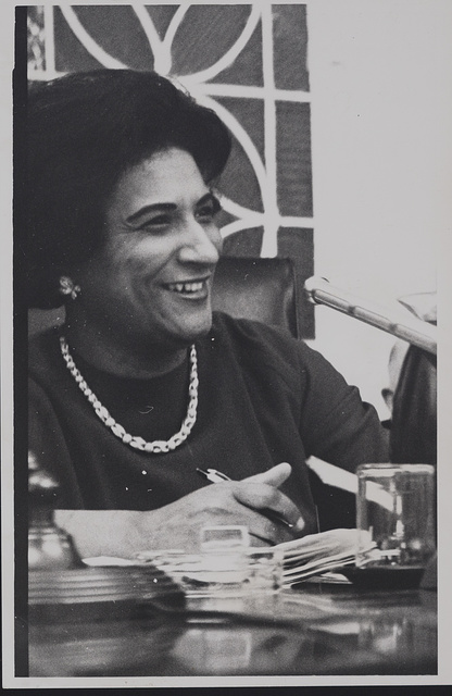 [Constance Motley attending a City Hall budget hearing]