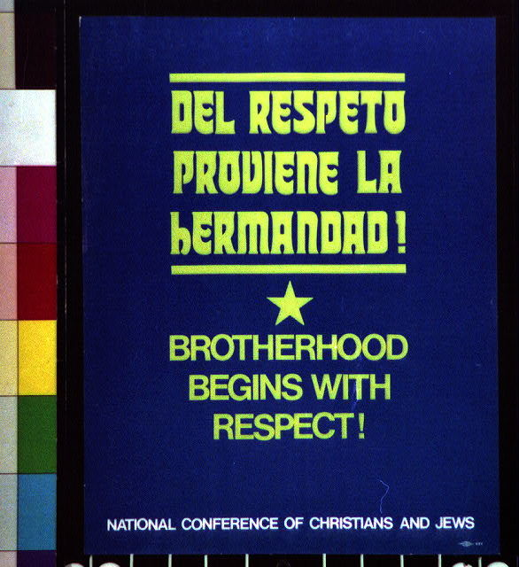 Del respeto proviene la hermandad! Brotherhood begins with respect!