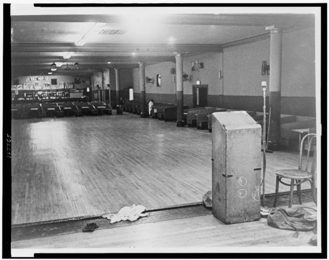 [Interior view of Audubon ballroom where Malcolm X was shot] / World Telegram & Sun photo by Stanley Wolfson.