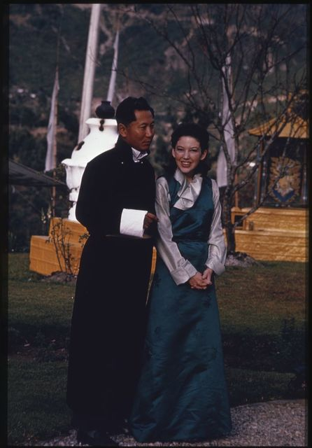 [King Palden Thondup Namgyal and Queen Hope Cooke of Sikkim]