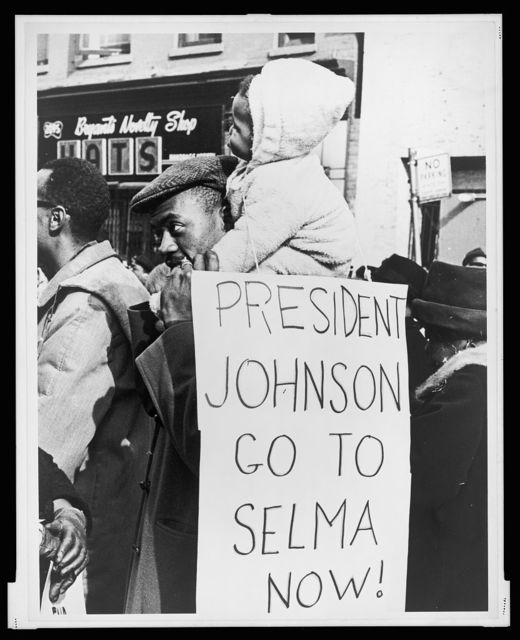 President Johnson go to Selma now! / World Telegram & Sun photo by Stanley Wolfson.