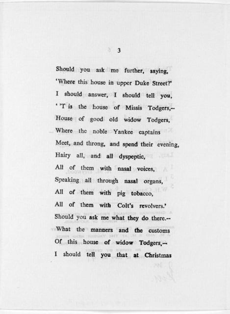 Song of Consul Hawthorne. [Columbus, Ohio, The Tauser Head Press, 1965].