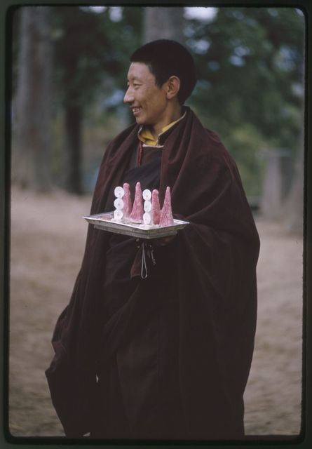Traditional religious offering to High Lama