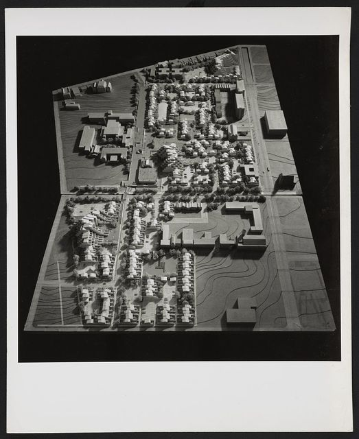 [Fort Lincoln housing, Washington, D.C. (project). View of model from above]