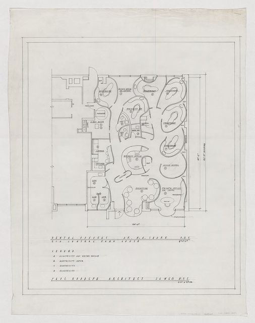 [Dental office for Dr. Nathan Shore, New York City. Plan]