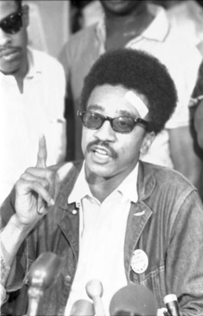 H. Rap Brown, SNCC [i.e., Student Nonviolent Coordinating Committee], news conf[erence] / [MST].