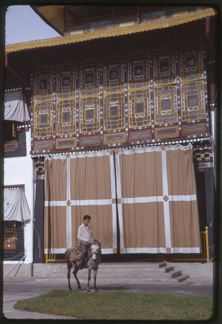 Prince Wangchuk in front of chapel