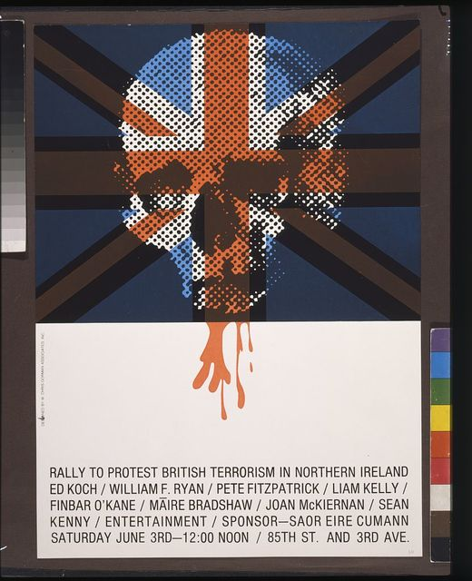 Rally to protest British terrorism in Northern Ireland, Ed Koch, William F. Ryan ...