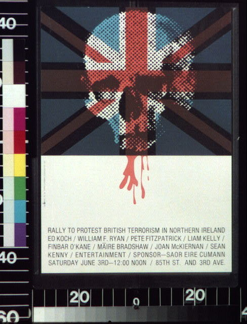 Rally to protest British terrorism in Northern Ireland, Ed Koch, William F. Ryan ...