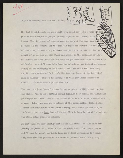 Alan Lomax Collection, Manuscripts, Black Identity Project, 1968-1970, administrative, 1968