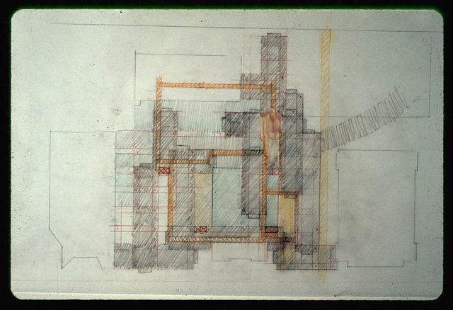 [New Haven Government Center, New Haven, Connecticut. Plan. Study sketch by Rudolph]