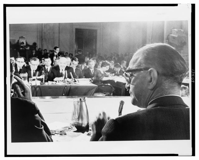 [Sec. of State Dean Rusk testifying about the Vietnam War before the Senate Foreign Relations Committee] / [MST].