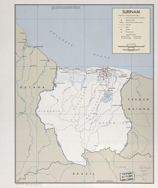Surinam. 3-68.