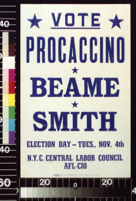 Vote Procaccino, Beame, Smith ... Nov. 4