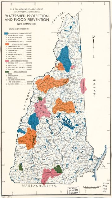 Watershed protection and flood prevention, New Hampshire.
