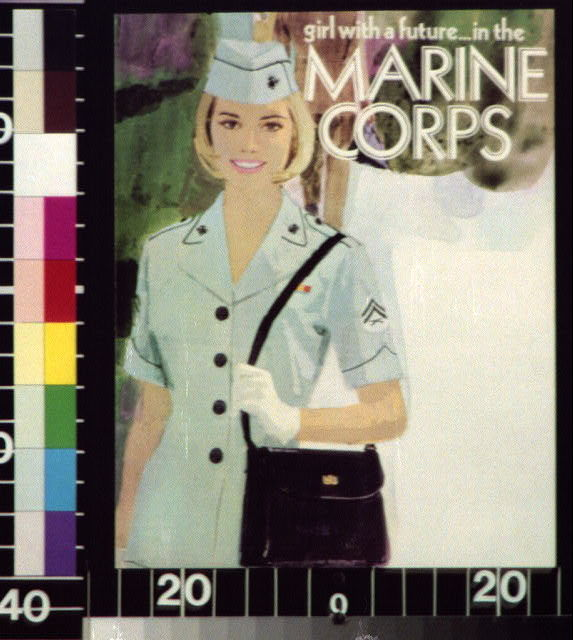 Girl with a future ... in the Marine Corps