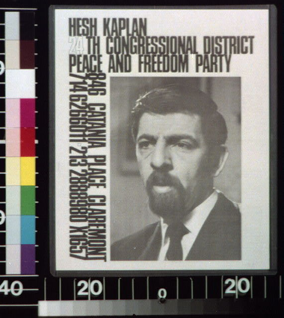 Hesh Kaplan, 24th Congressional District, Peace and Freedom Party