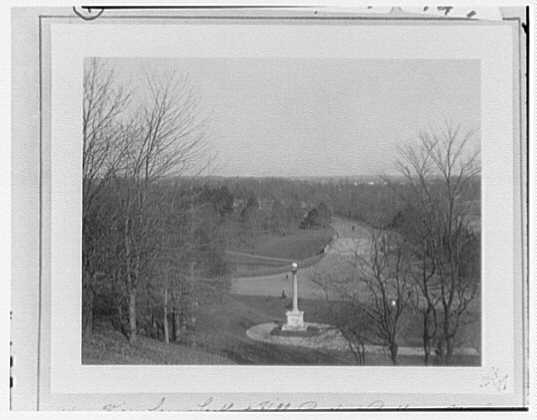 Prospect Park. View from Lookout Hill