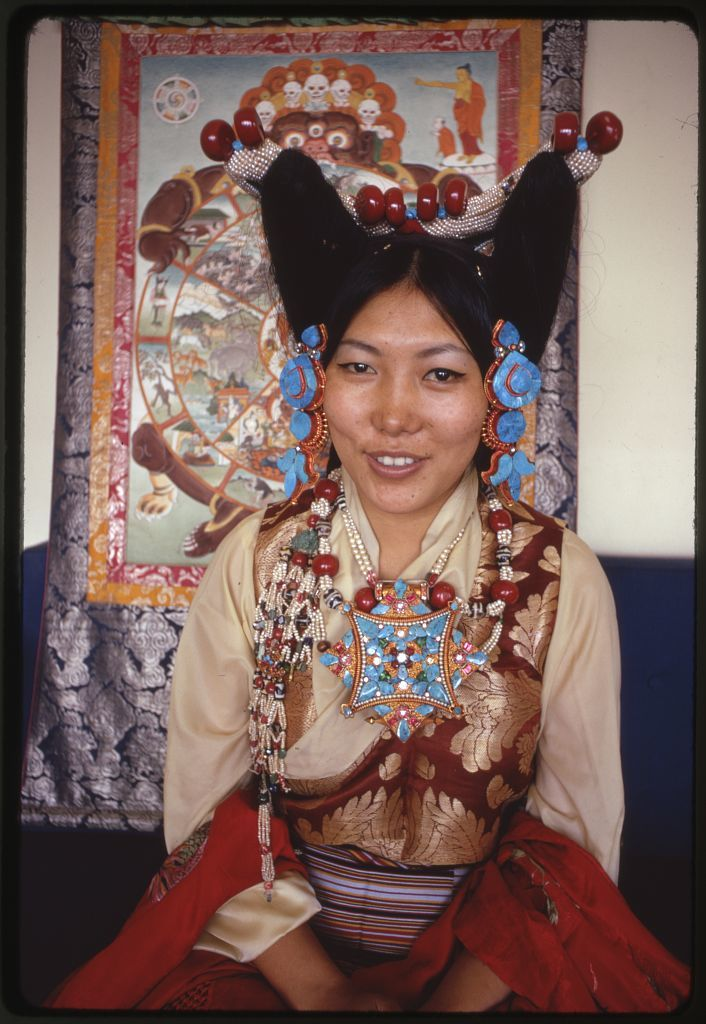 Sikkimese princess in ceremonial dress