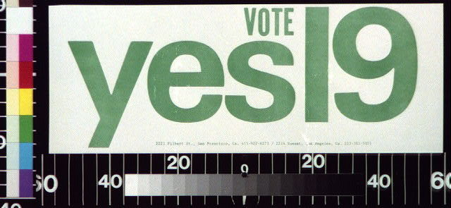Vote yes [on proposition] 19