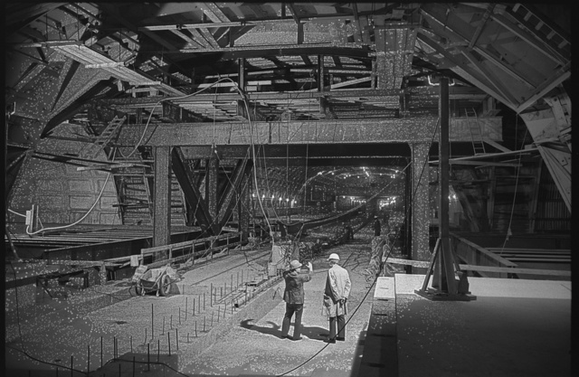 [Metro Center subway station being being constructed  at 13th and G Streets, N.W., Washington, D.C.]