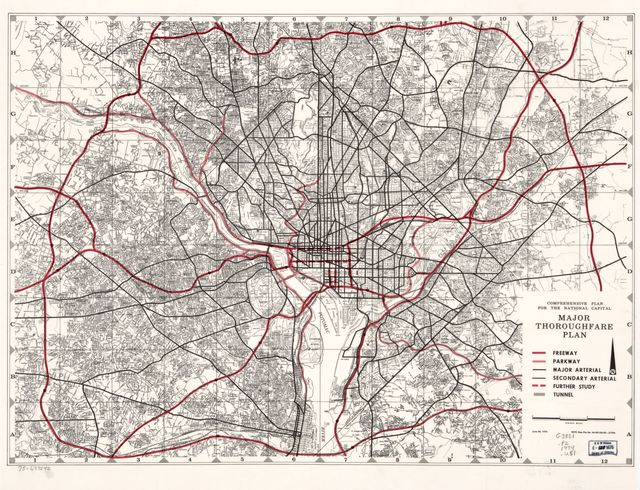 Comprehensive plan for the National Capital, major thoroughfare plan.