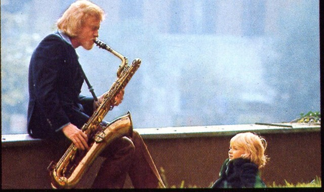 [ Gerry Mulligan and unnamed child]