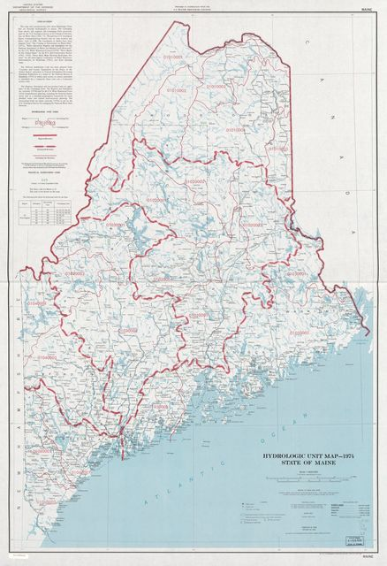 Hydrologic unit map--1974, State of Maine.