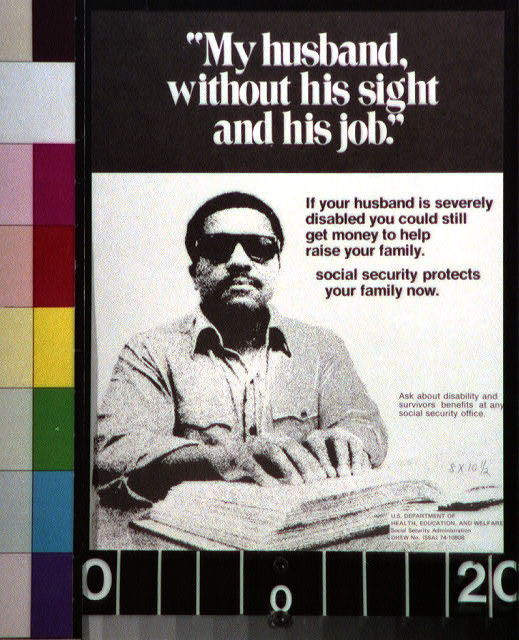 My husband, without his sight and his job