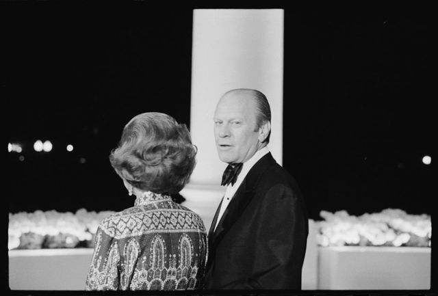 President Gerald R Ford And First Lady Betty Ford Looking