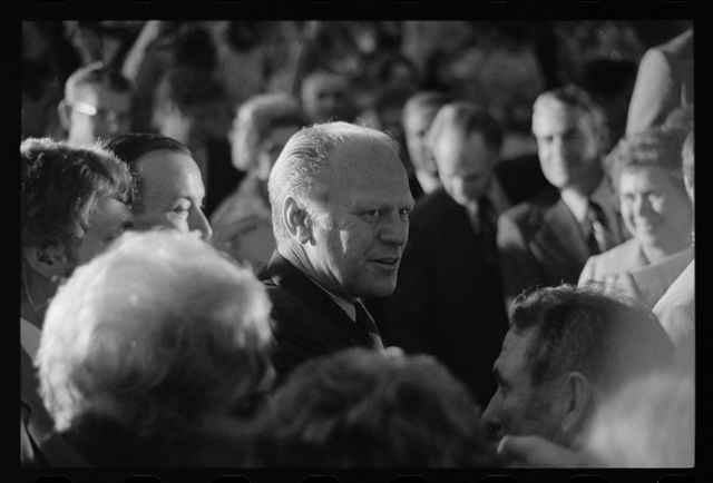 [President Gerald Ford among attendees at the Small Business Conference]