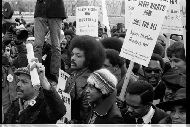 Reverend Jessee [i.e., Jesse] Jackson's march for jobs -- around the White House / [TOH].