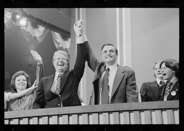 [Jimmy Carter and Walter Mondale at the Democratic National Convention, New York City]