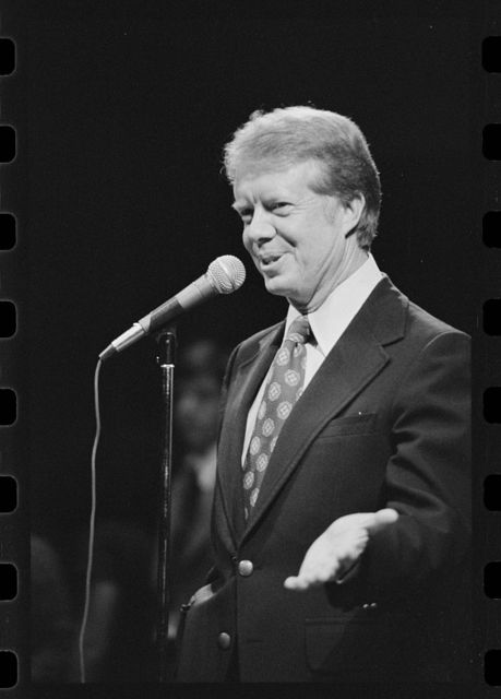 [Jimmy Carter speaking at a Brooklyn College campaign stop in New York]