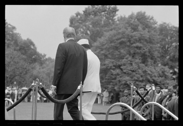 [President Gerald Ford with President William Tolbert of Liberia at the White House, Washington, D.C.]